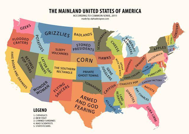 Usa Mainland Mapa De Estados Unidos Mapas Tumblur