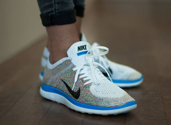 81884e748779e ... discount nike free flyknit 4.0 multicolor i have these in neon yellow  and love them but
