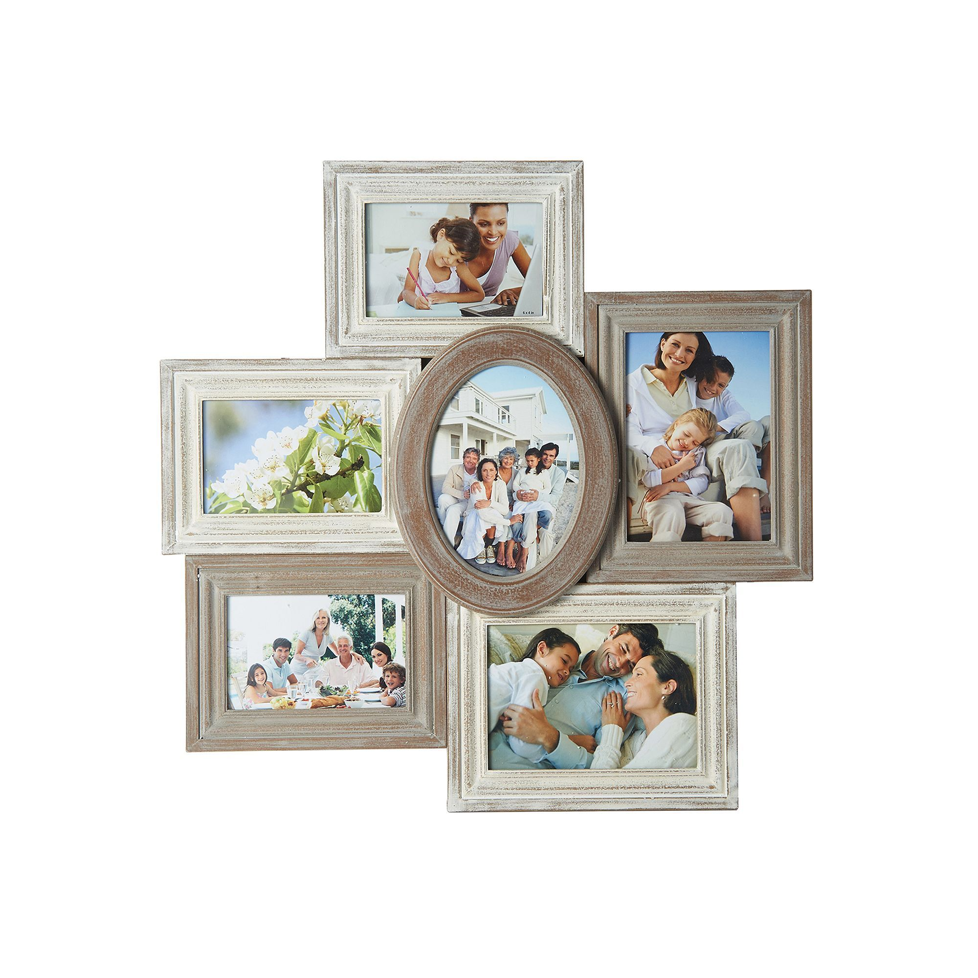 Melannco 6-Opening Distressed Collage Frame, Multicolor | Products ...