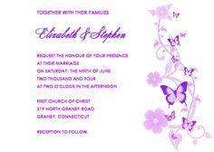 free wedding border templates butterflies wedding invitation