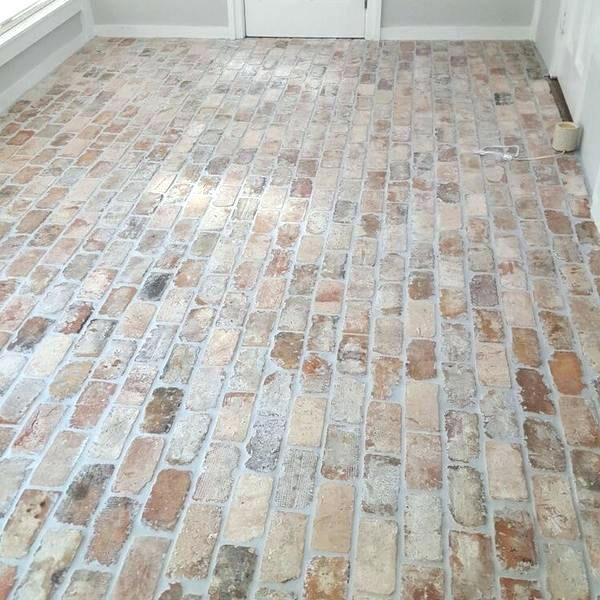 brick flooring tile floor