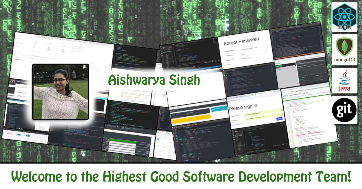 One Community Welcomes Aishwarya Singh To The Highest Good Network Team Artificial Intelligence Technology Network Software Computer Science