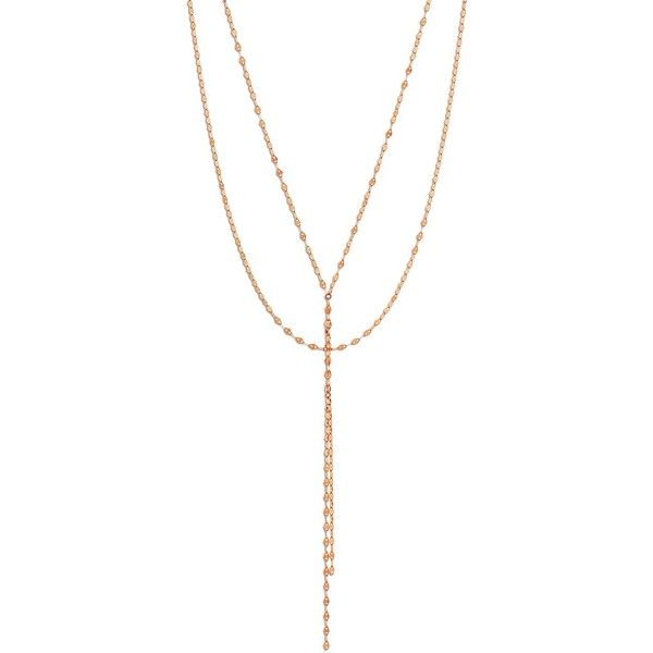 LANA JEWELRY Blake 14K Rose Gold Lariat Necklace 36945 PHP