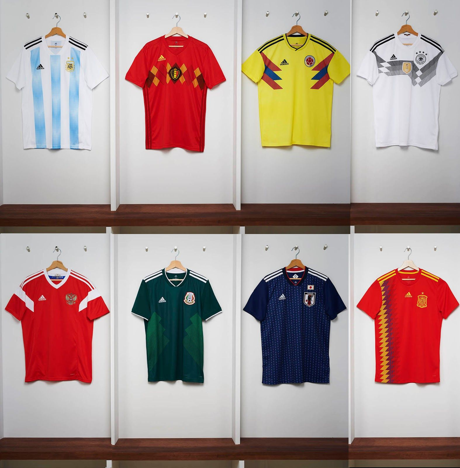 The new Adidas 2018 World Cup jerseys bring back iconic designs of the  past 65db051dd