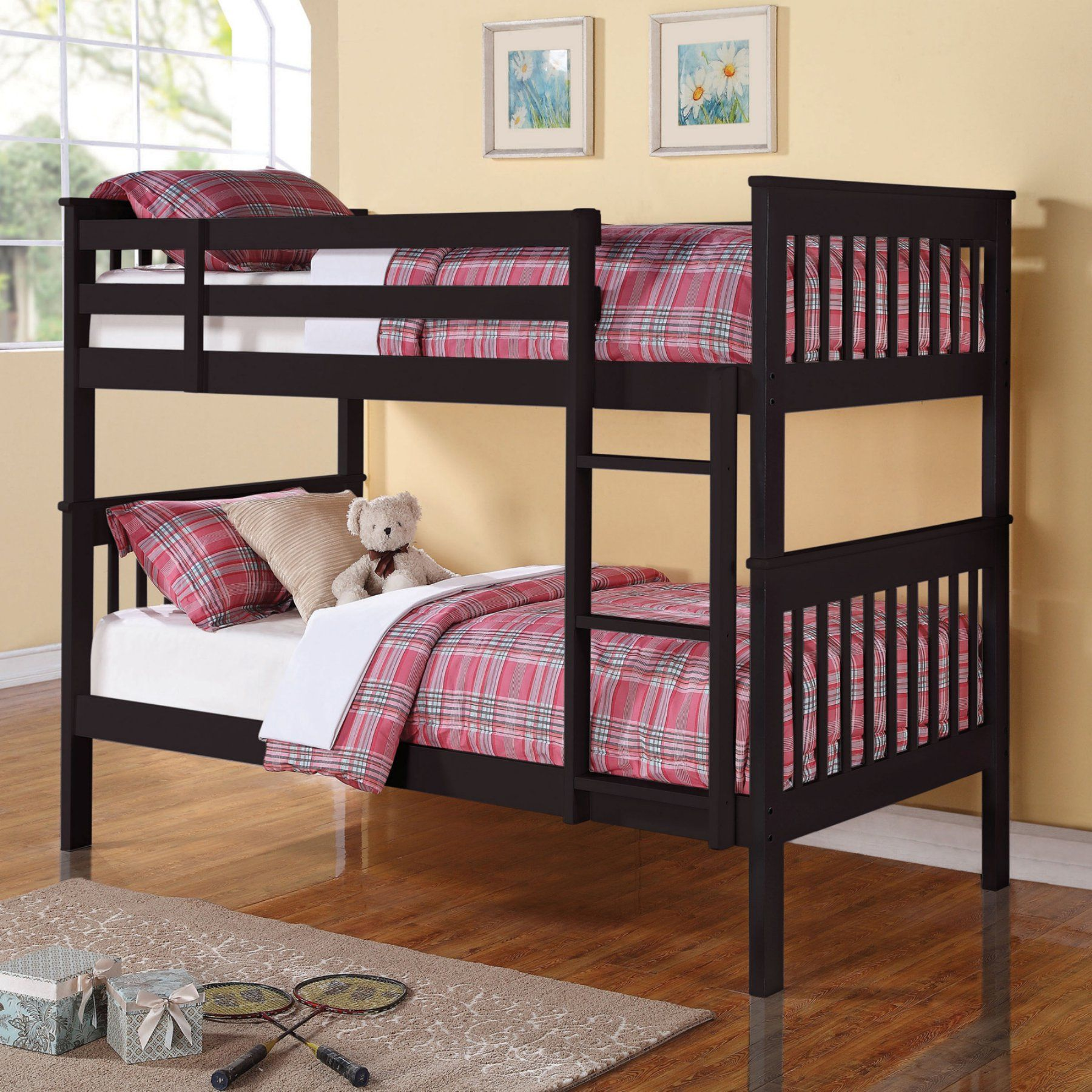 Coaster Furniture Twin over Twin Bunk Bed with Full Length