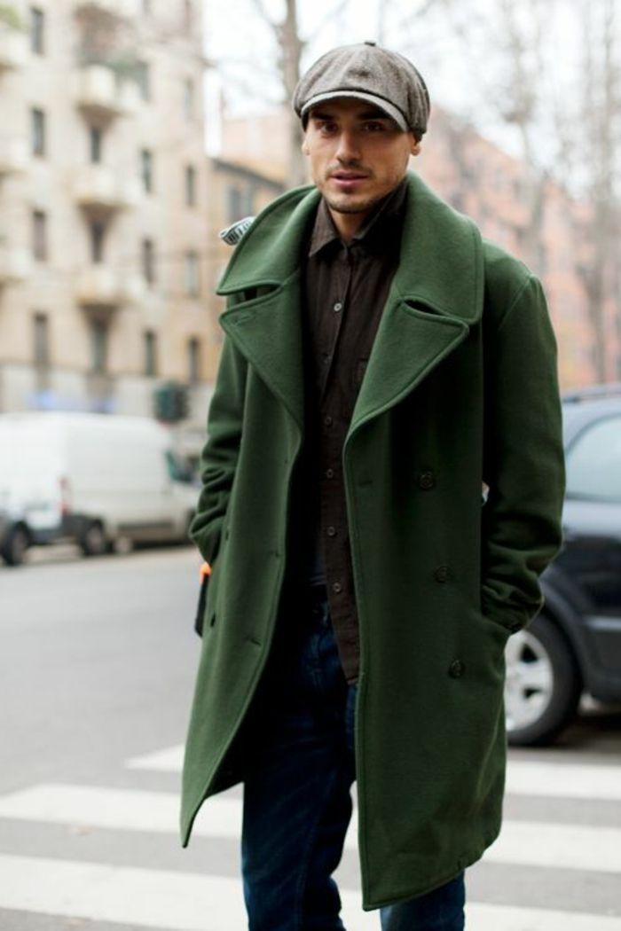 Manteau long en laine gris zara