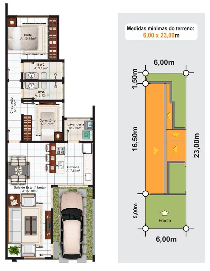 Projeto Arquitetônico: Casa Sorocaba • Cód. 308 • R$ 420,00 ...