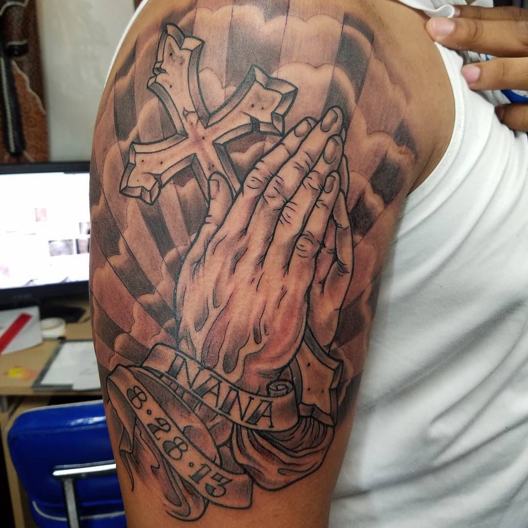 b0c9cd3d70b30 awesome 60 Praying Hands Tattoo Designs - Show Your Devoutness and Religious  Belief Check more at
