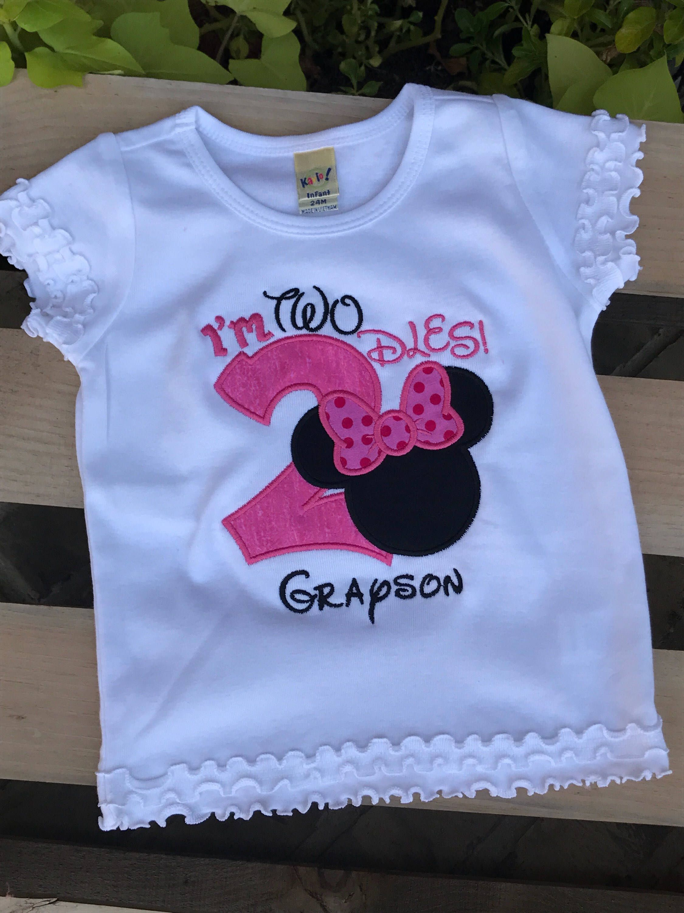 2nd 3rd 5th Personalized 4th Mickey Mouse Embroidered Birthday Shirt 1st