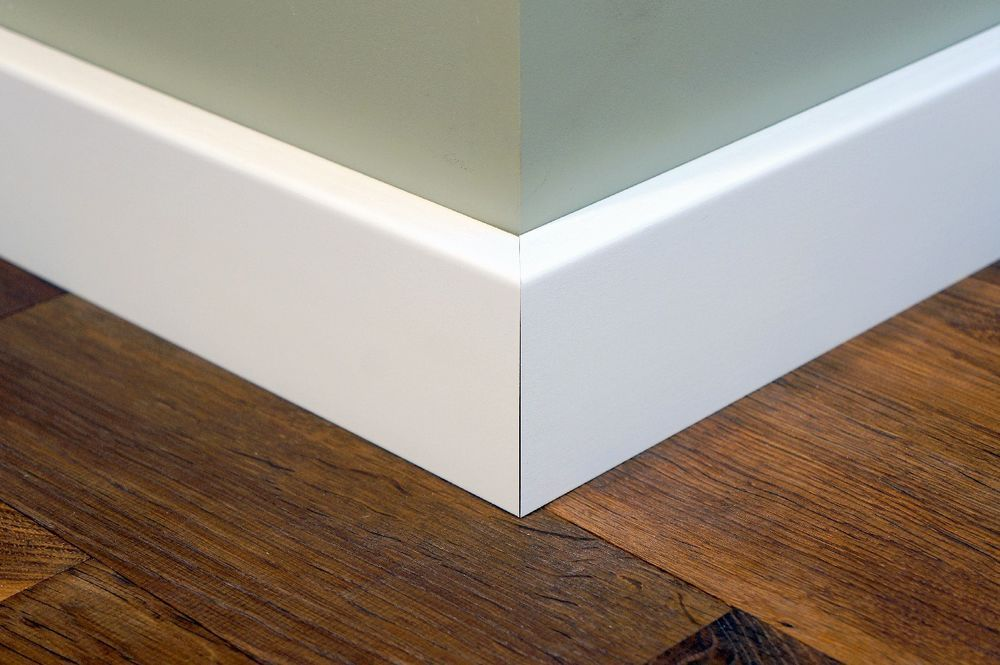 Fliesen Fußleisten sockelleiste fußleiste leiste birke massiv 15x50 mm weiß lackiert