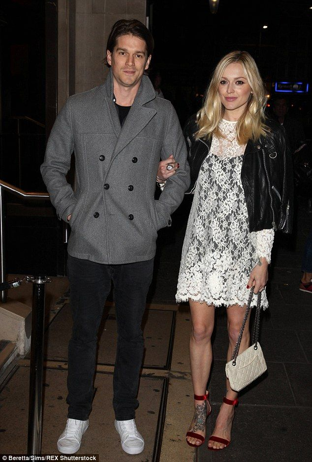 Fearne Cotton Looks Slim In White Lace Mini At Ant And Dec