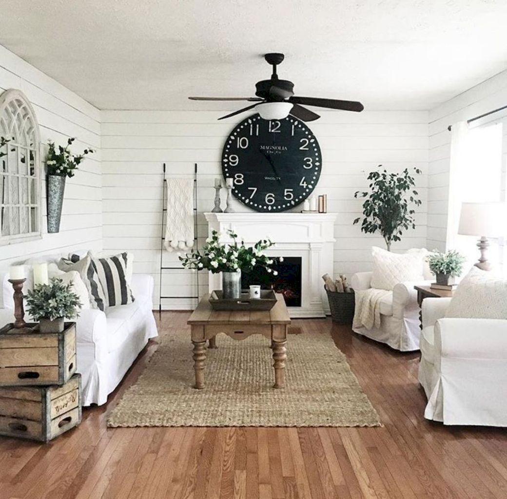 40 Insane Modern Farmhouse Living Room Design Ideas | Shabby chic ...