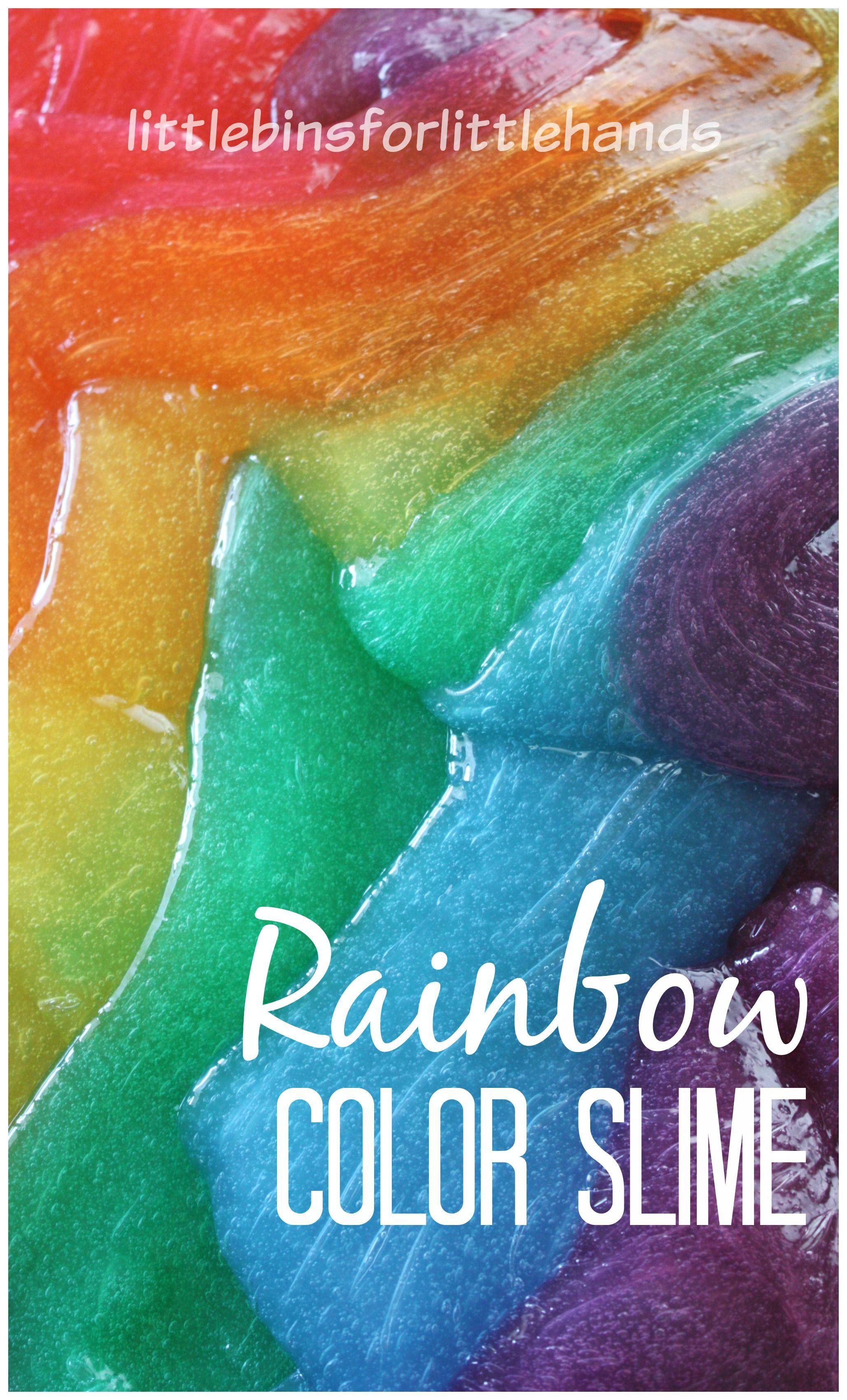 how to make rainbow slime