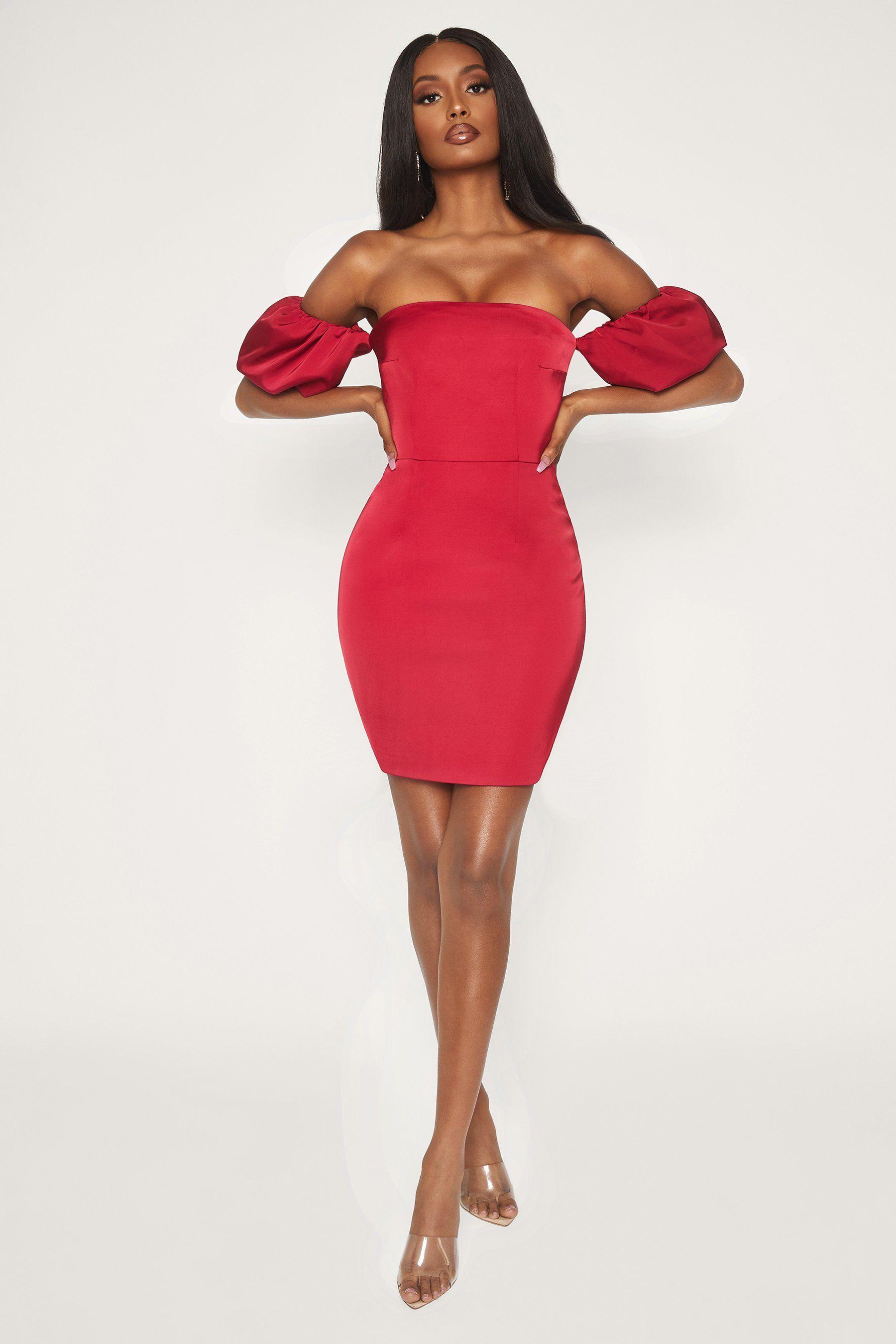 Amberley puff sleeve mini dress burgundy mini dress