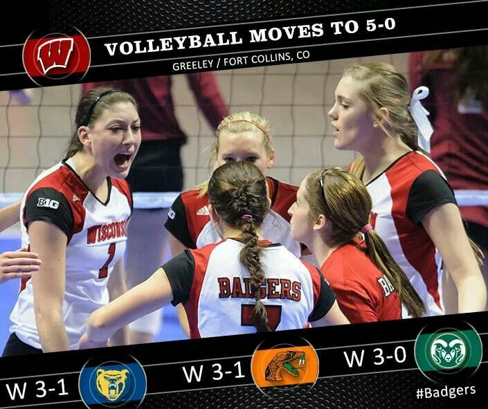 Volleyball Wisconsin Badgers Volleyball Badger Volleyball