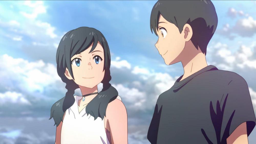 Hina Amano Hodaka Morishima Weathering With You Tenki No Ko Animasi Karakter Animasi Seni Anime