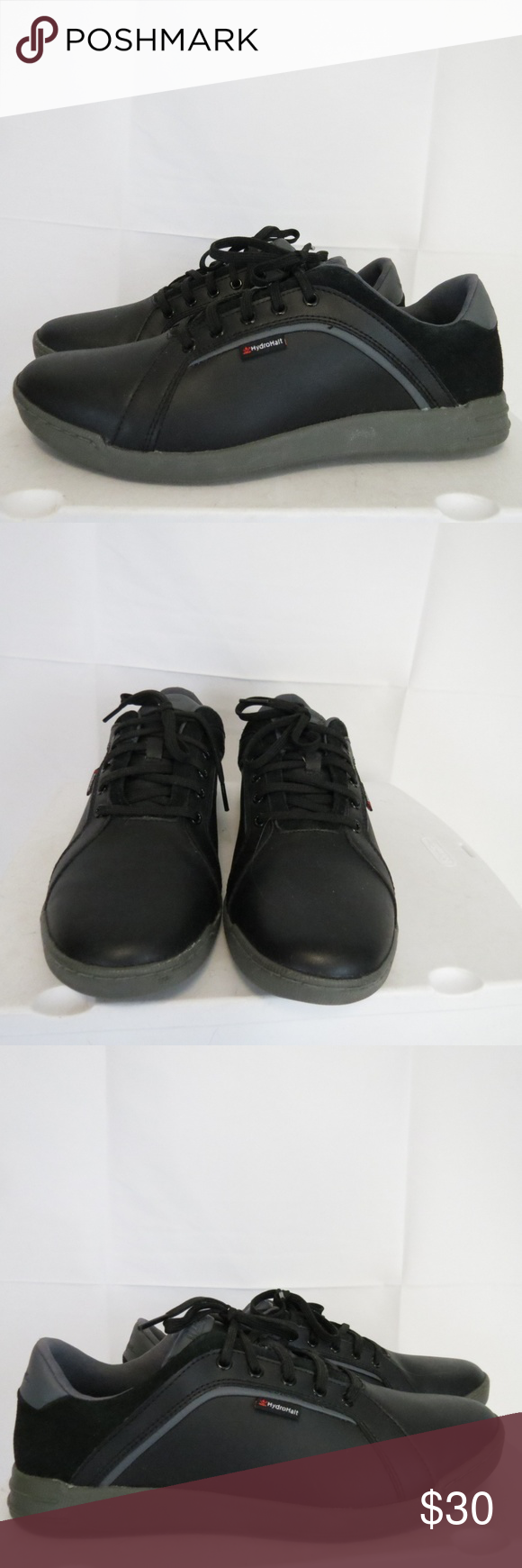 Walter Hagen Men s 9.5 W HydroHalt Golf Shoes Walter Hagen Men s 9.5 W  HydroHalt Golf Shoes Black(location af cp) very good used condition please  see pics ... 37bc594edc