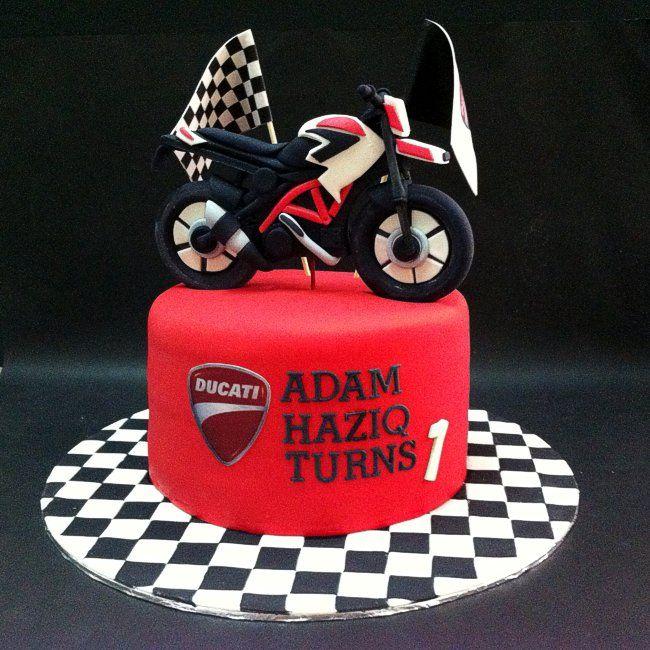 Fondant 3d Ducati Motorcycle Motorbike Cake Motorcycle Birthday