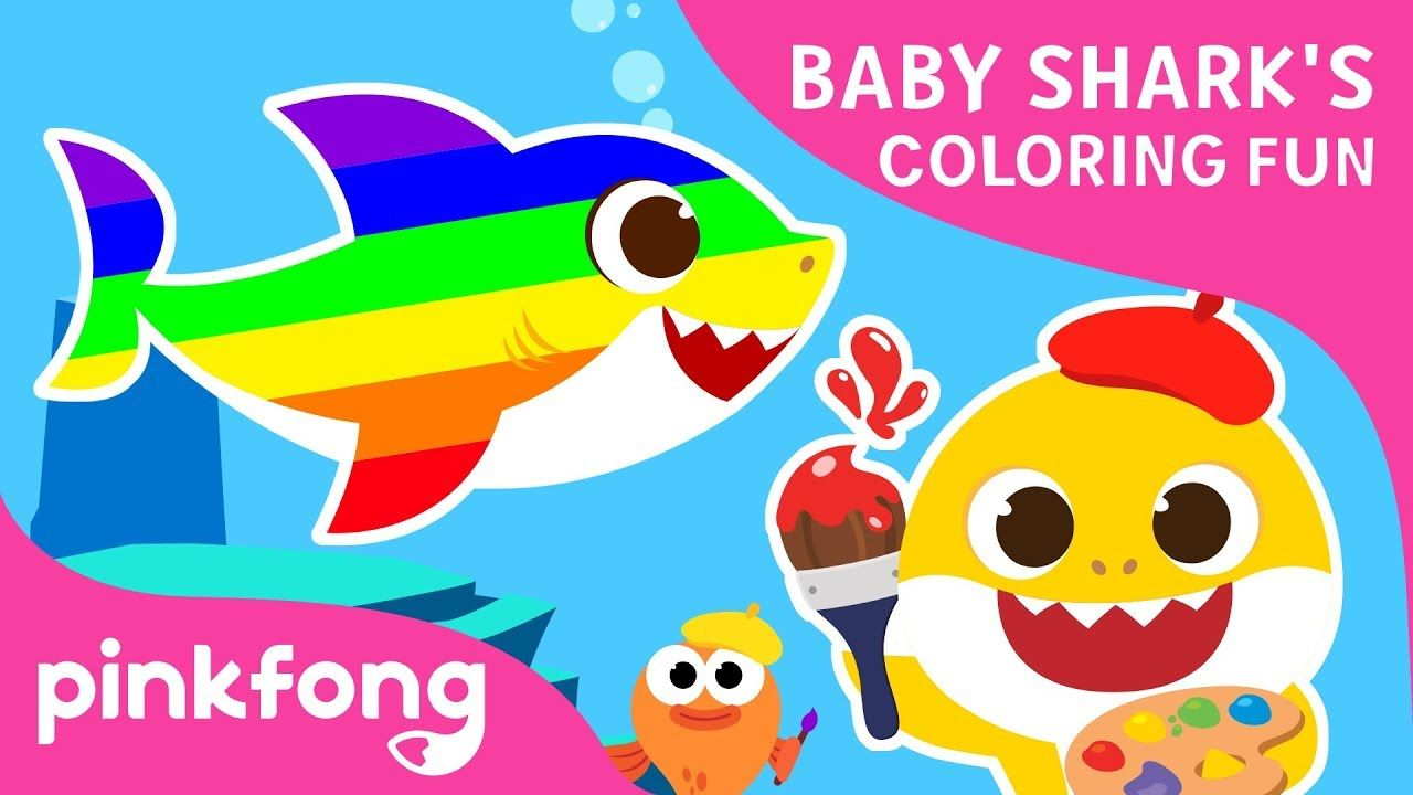 Baby Shark's Coloring Fun | Baby Shark Coloring Book | Toy Show | Pinkfo...  | Cool baby stuff, Baby shark, Kids songs
