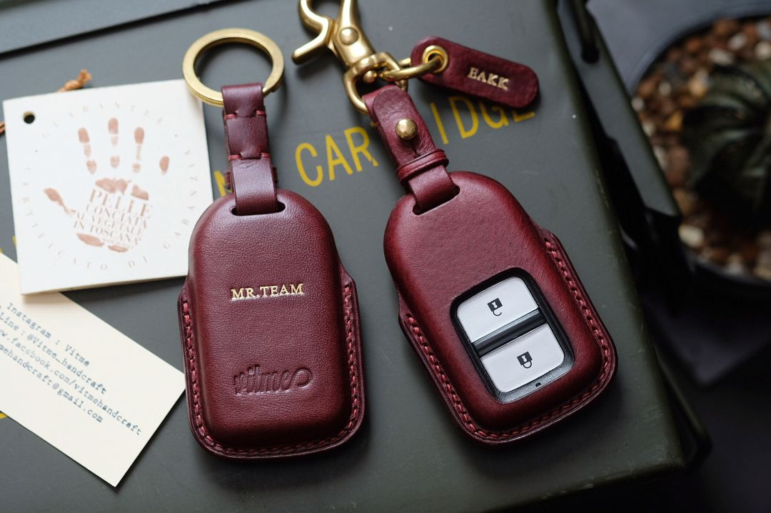 Honda car key cases with name stamping service.(made to