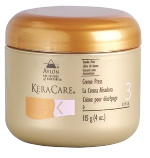 KeraCare Creme Press beautifully straightens hair while imparting a healthy, natural-looking, non-greasy sheen.  Available at your nearest salon!