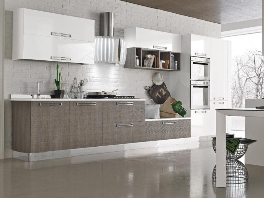 WOODEN KITCHEN WITH ISLAND MILLY LOOK SYSTEM COLLECTION BY STOSA ...