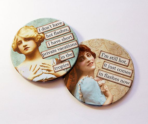 Photo of Funny Coasters, Menopause, Set of Coasters, Gift for her, Coasters, Drink Coasters, Barware, Hot Flashes, Sassy Women, Retro, Humor (5039f)