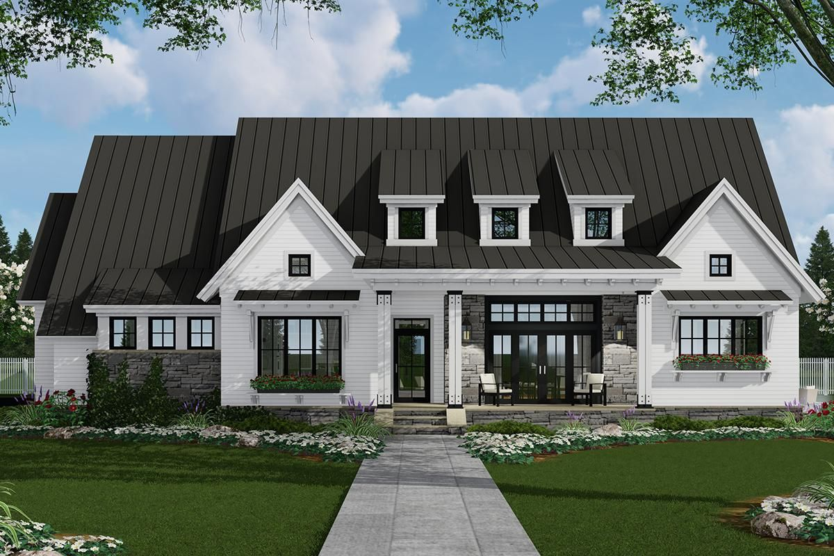 House Plan 09800305 Modern Farmhouse Plan 2,287 Square