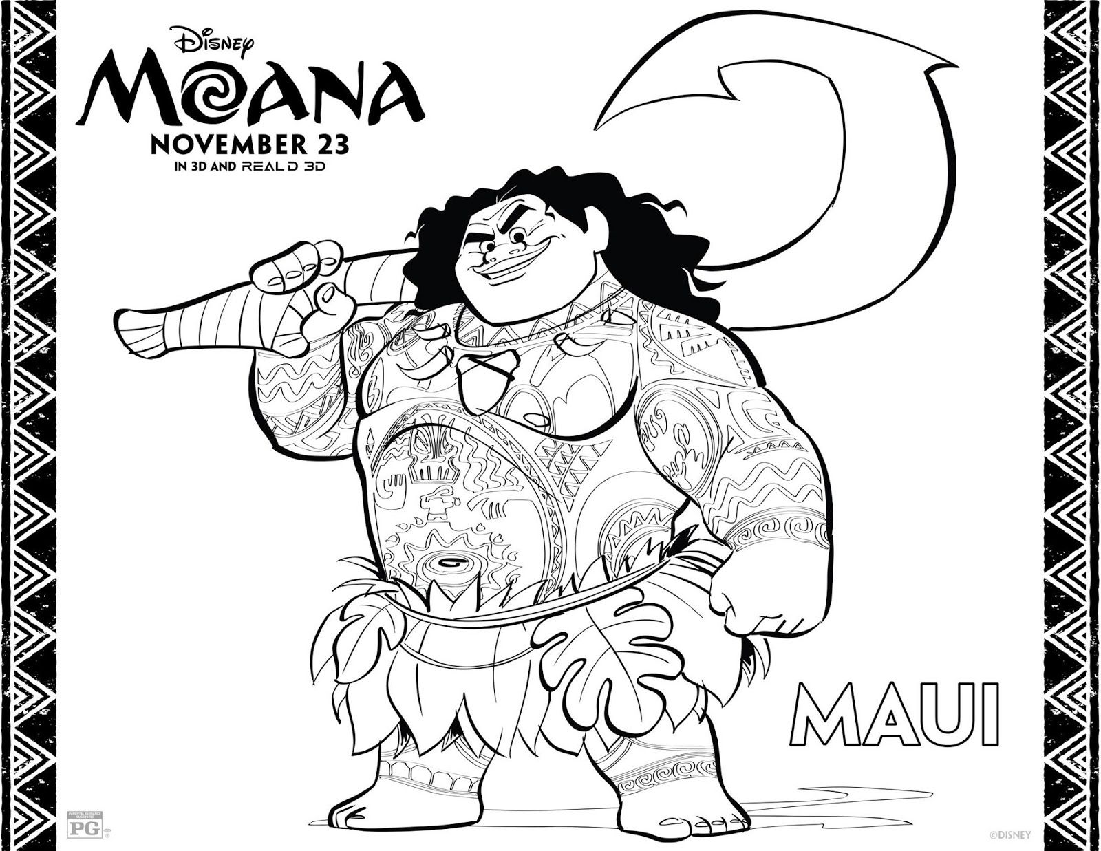 Moana Printable Coloring Activity Pages Moana Pinterest