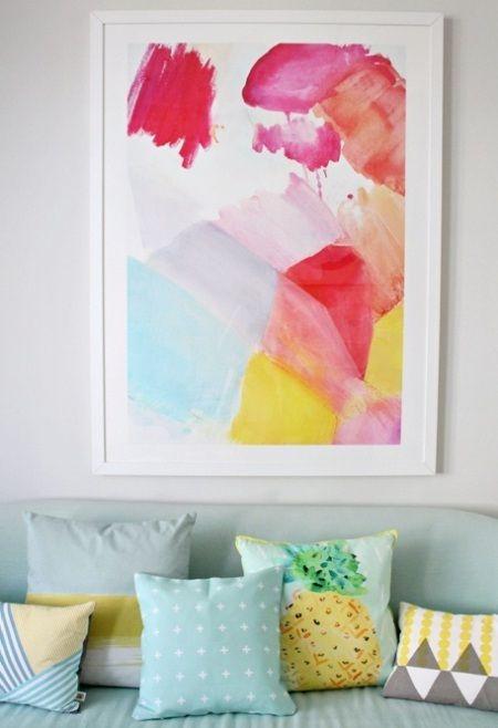 Hiasan Dinding Untuk Menambah Warna Ruangan Foto Lukisan Atau