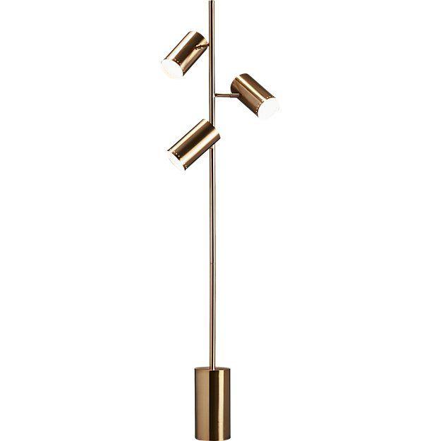 Trio Gold Floor Lamp Reviews Cb2 Gold Floor Lamp Black Floor Lamp Lamp