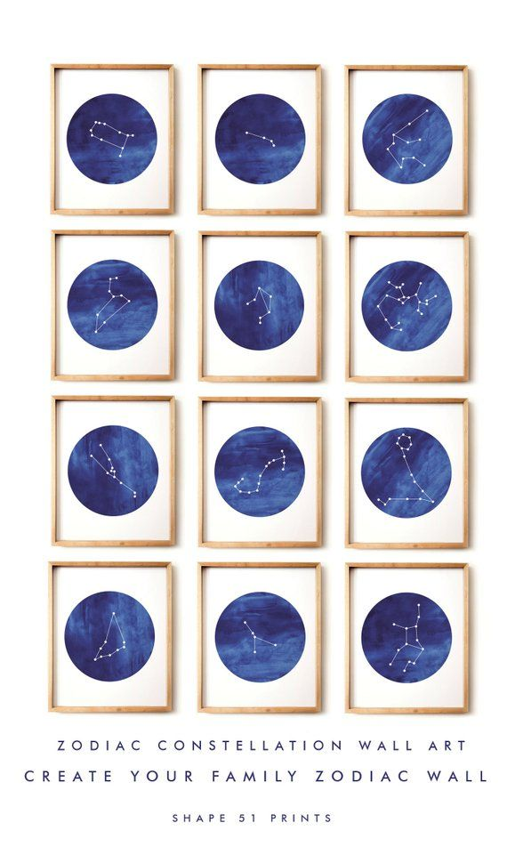 Sagittarius Poster Zodiac Constellation Watercolor Star Sign Etsy Constellation Wall Art Watercolor Print Watercolor Circles