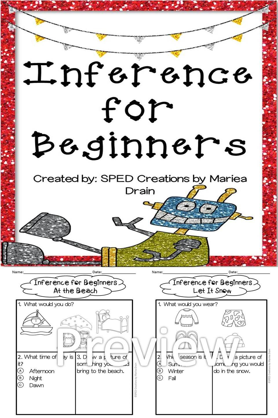 Free 2 Inference Activities For Beginners Inferencing Activities Inference Activities Inferencing