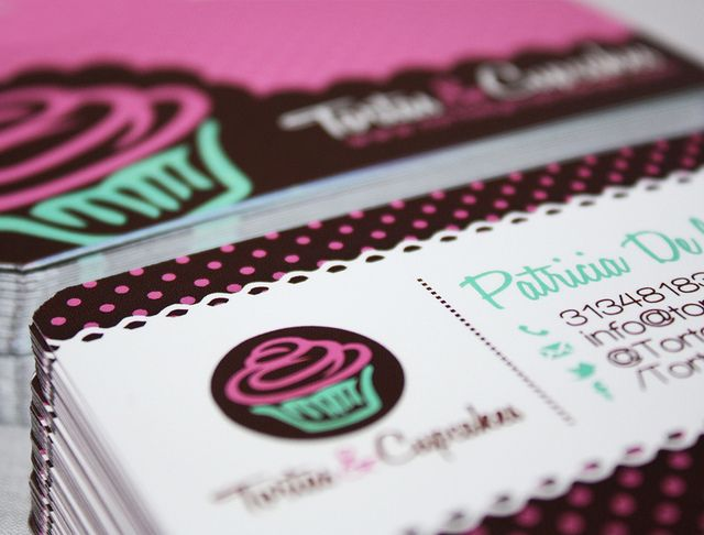 Diseño de tarjetas/Business card design. Tortas & Cupcakes.