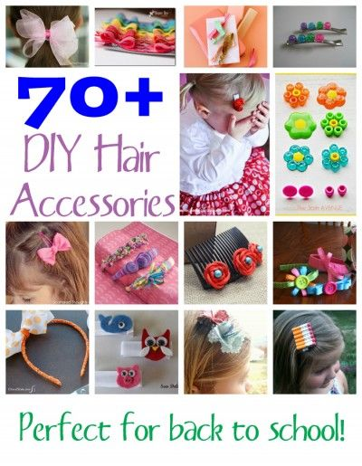 70 Diy Hair Accessories Fun Family Crafts Diy Hair Accessories Diy Hairstyles Girls Hair Accessories