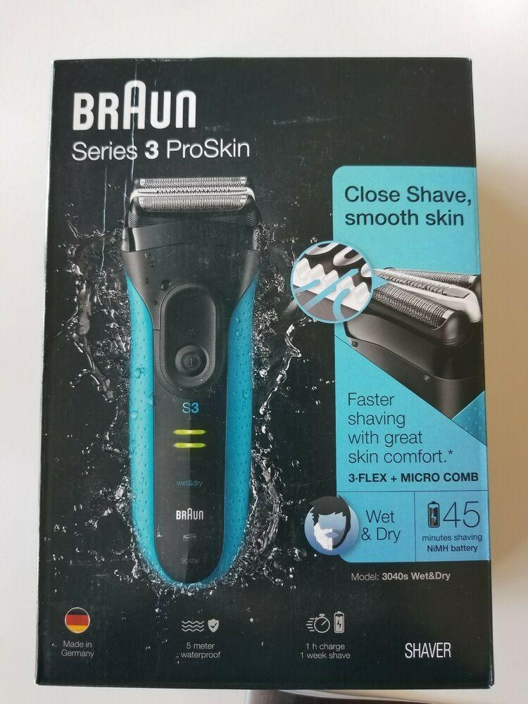 Ebay Sponsored New Open Box Braun Series 3 Proskin 3040s Wet Dry Electric Shaver For Men Electric Shaver Electric Shaver Men Shaver