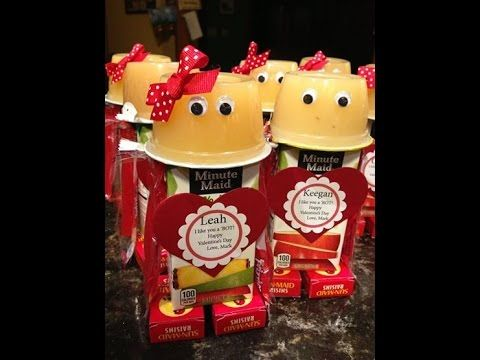 Valentine's Day Juice Box Robot. You can make this robot for a fun Valentine's Day treat using mostly healthy snacks and die cut shapes from the L.E. Phillip...