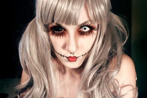 Halloween Makeup Idea by askuniqso.deviantart.com on @deviantART