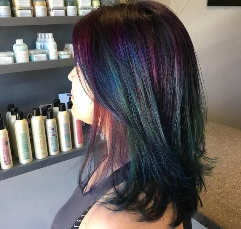 Oil slick hair everything to know about the fun color trend oil oil slick hair everything to know about the fun color trend solutioingenieria Images
