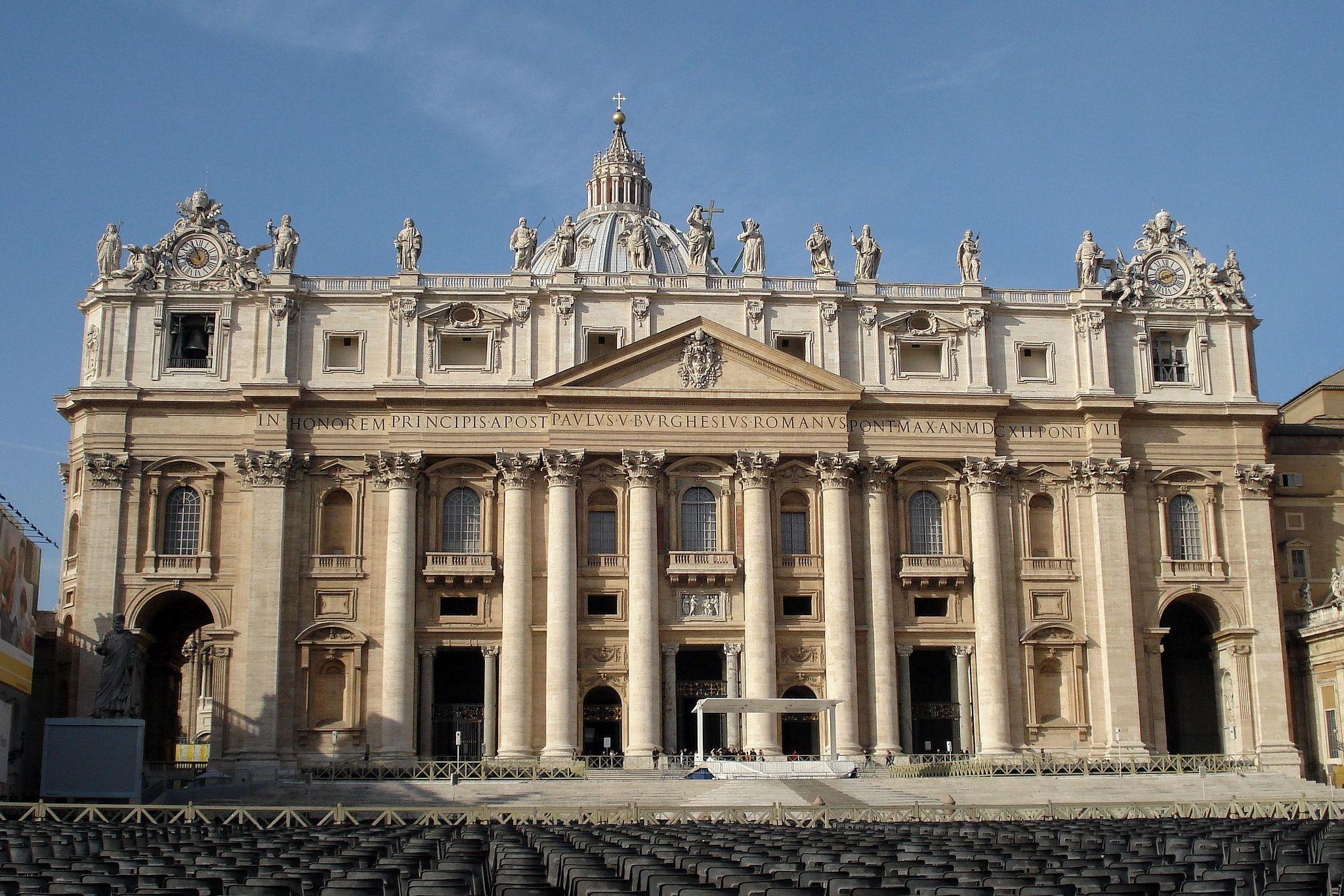 the facade of st. peter designedcarlo maderno,1556 –1629, a