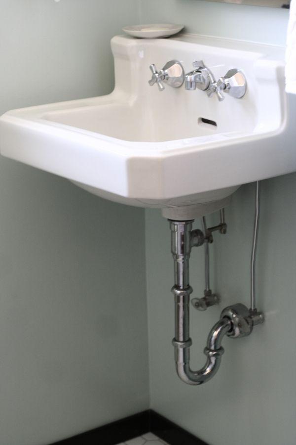 Vintage Wall Mounted Bathroom Sink Before Vintage Bathroom