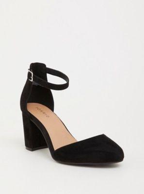 b51b98d1750f1 Black Almond Toe Pump (Wide Width) | Products | Ankle strap heels ...