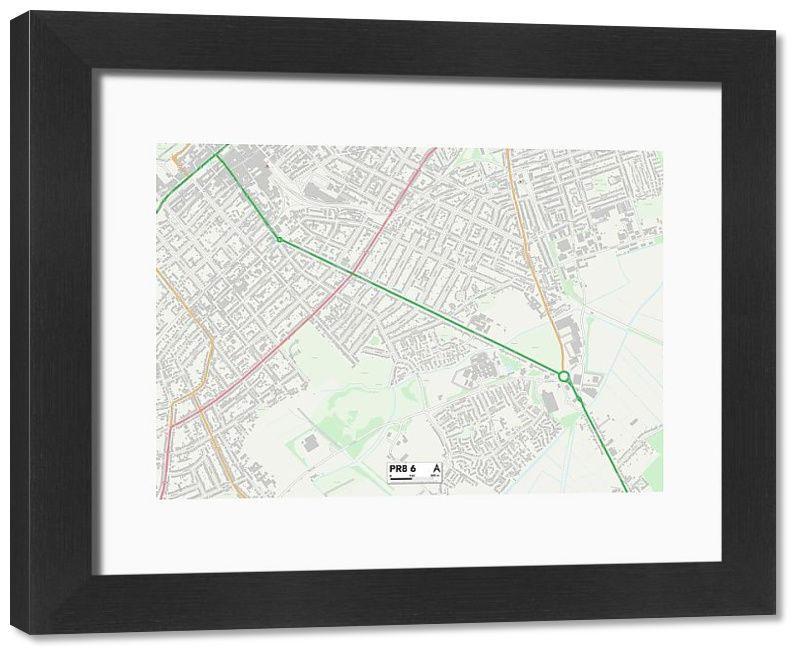 Framed Print Sefton PR8 6 Map