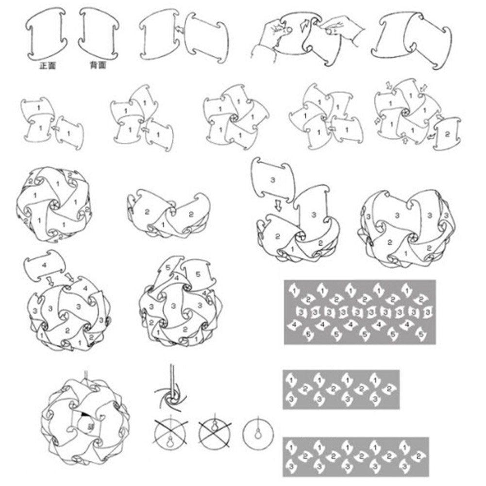 puzzle lampe schablone