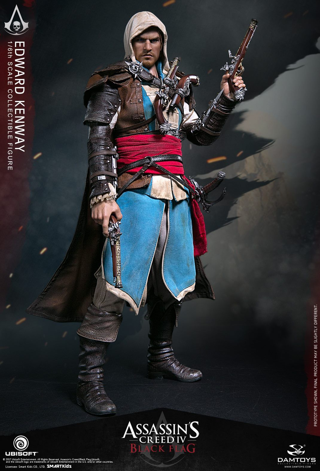 Damtoys Ubisoft Assassin S Creed Iv Blackflag Edward Kenway 1 6