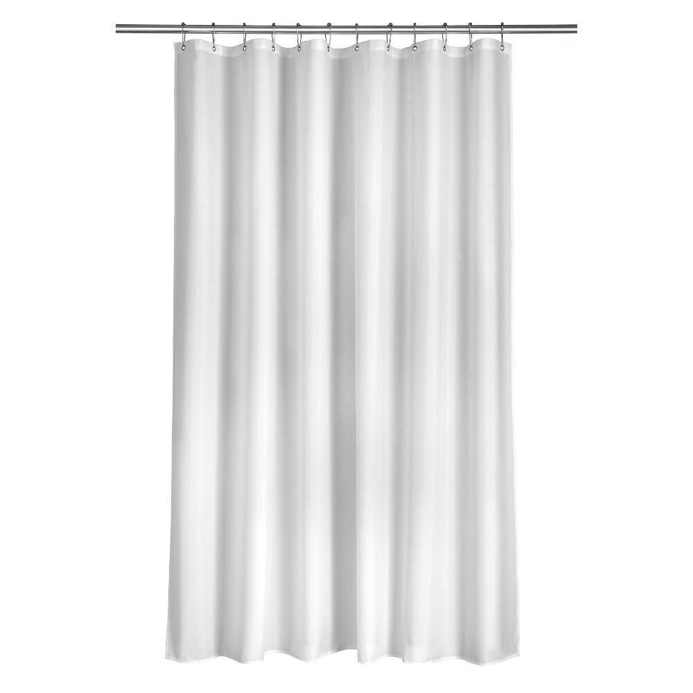 Croydex Shower Curtain In Plain White Kitchen Remodel Pictures