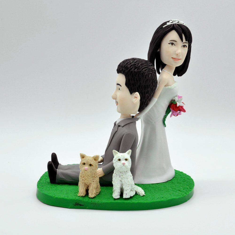 Wedding cake toppercustom wedding cake toppercustom bobbleheads