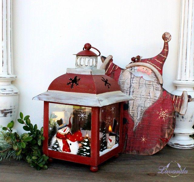 Kovová lucerna Vianoce