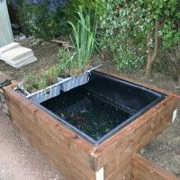 72x48x48 preformed large rectangular pond liners raised for Small fish ponds for sale