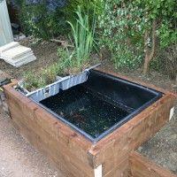 72x48x48 preformed large rectangular pond liners raised for Moulded fish ponds
